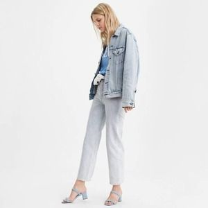 Levi's Ribcage Straight Ankle Jeans in Lose Marble